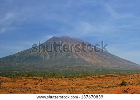 Bali mountains. Volcano. - stock photo