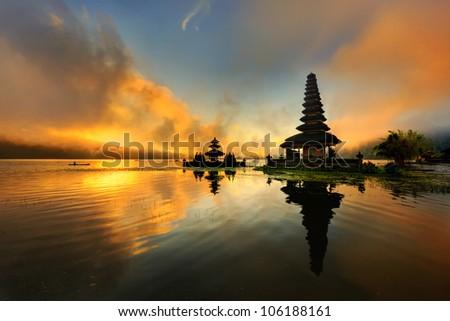 Bali Pura Ulun Danu Bratan Water Temple - stock photo