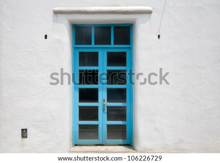 Bali-style summer restaurant garden gates and staircases swimming pools - stock photo