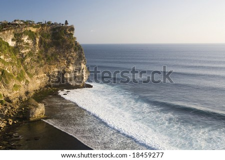 Bali temple on the indian ocean