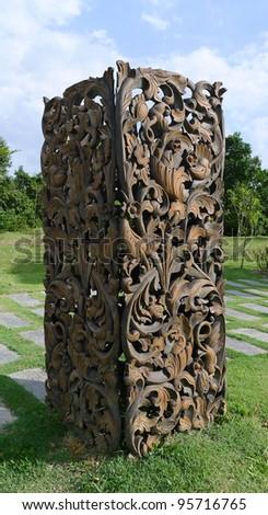Balinese Art Sculpture - stock photo