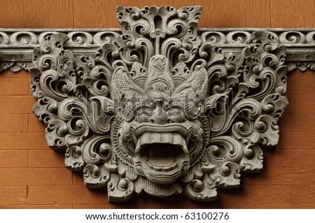 Balinese Demon statue - stock photo