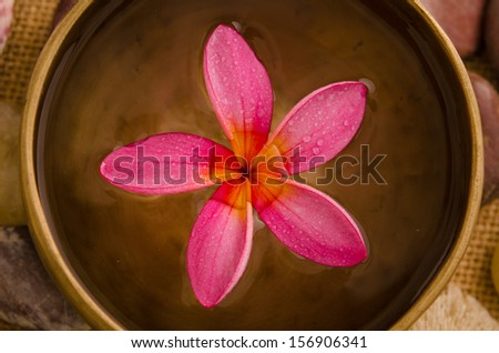 Balinese Spa setting. Low lighting, suitable for spa related theme.  - stock photo