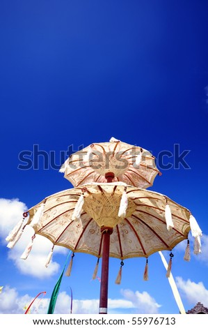 Balinese umbrella - stock photo