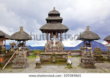 Baliness Style Temple in Bali Indonesia - stock photo