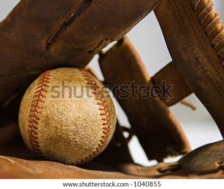 Ball and Glove - stock photo
