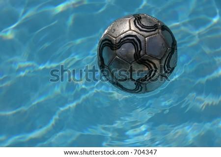 Ball and pool - stock photo