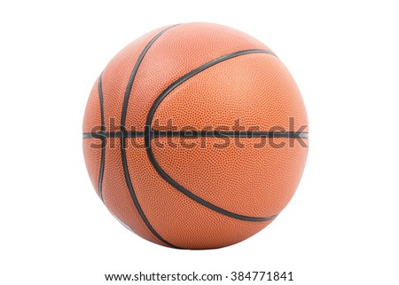 Ball basketball isolated as a sports on over white background - stock photo
