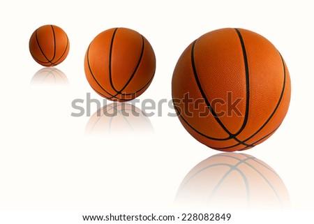 Ball Basketballs white background  - stock photo