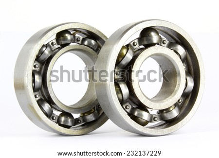 Ball bearing isolated on a white background.