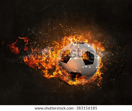 Ball burning in fire
