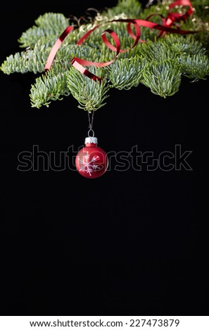 ball christmas new-year tree red - stock photo