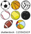 ball collection  - stock vector