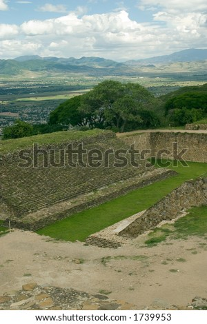 Ball Court  of the Mixteca in Oaxaca, Mexico - stock photo