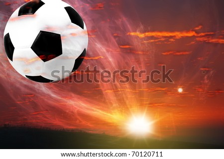 ball fly from galaxy - stock photo