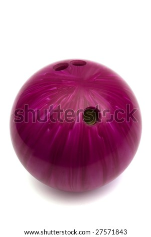 ball game in bowling on a white background - stock photo