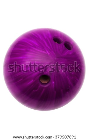ball game in bowling on a white background