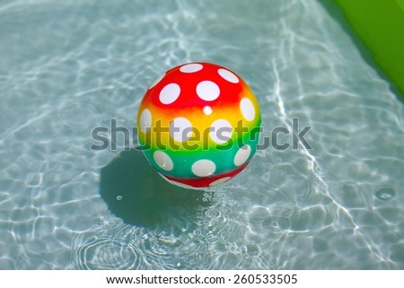 Ball in a pool - stock photo