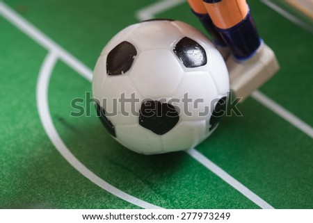 ball in play football table - stock photo