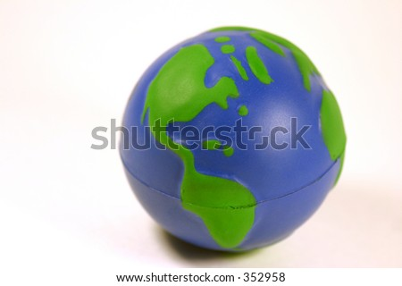 Ball in the shape of the earth. - stock photo