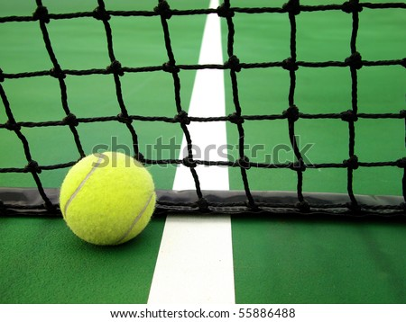 Ball & Net - stock photo