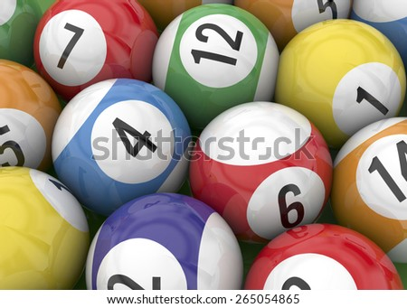 Ball of Billiards on green Table - stock photo