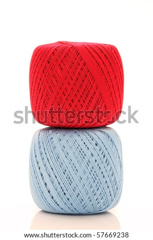 Ball of threads - stock photo