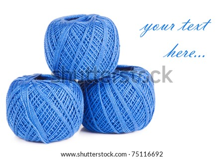 Ball of threads isolated on white background