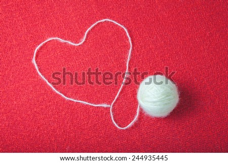 ball of yarn - stock photo