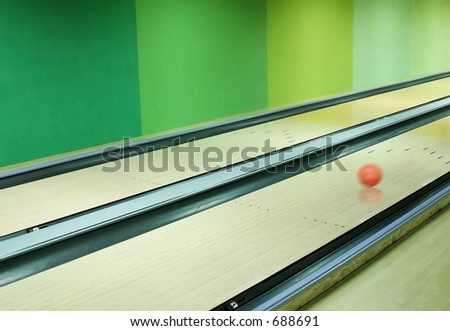 ball on an alley - stock photo