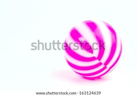 Ball on isolated white background - stock photo