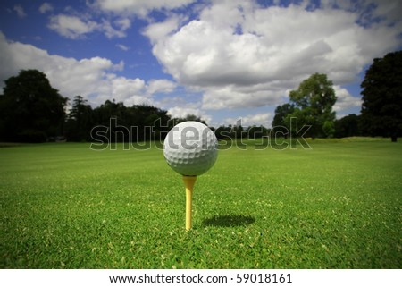 Ball on the tee