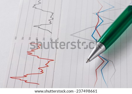 Ball pen on a table   - stock photo