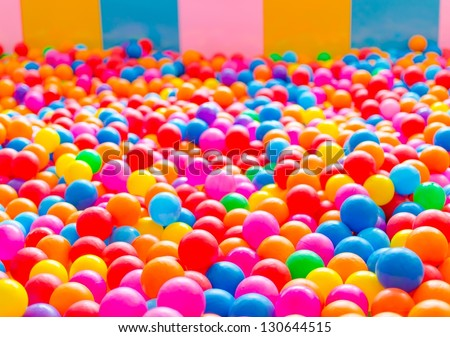 Ball players have come up in many color combinations. - stock photo