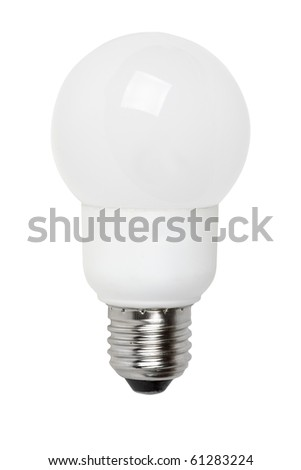 Ball-shaped fluorescent lamp  isolated on the white background - stock photo