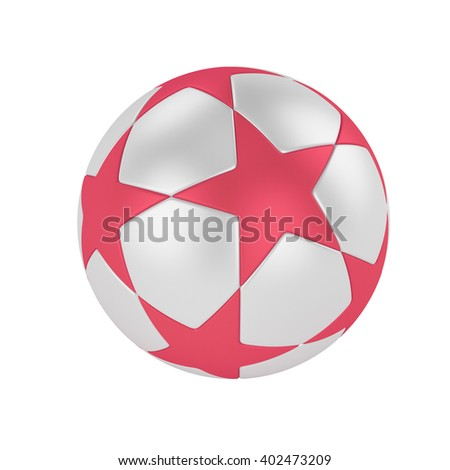 ball soccer league.3D Illustration
