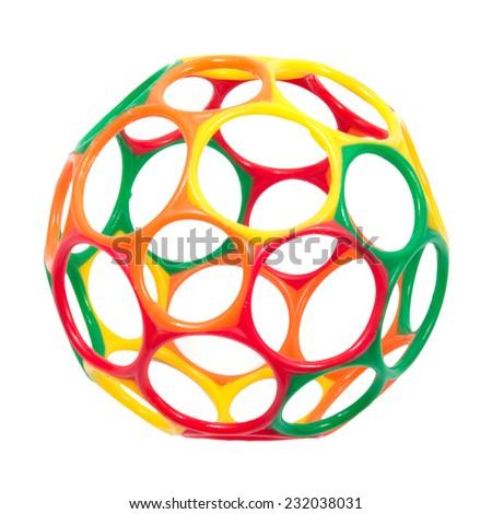 Ball toy isolated on white background. - stock photo