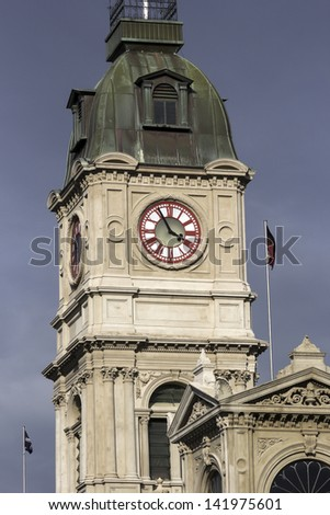 Ballarat historic architecture - clock tower in the afternoon light