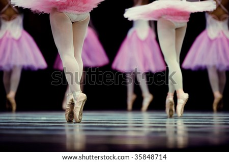 ballerina angels - stock photo