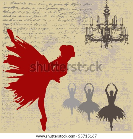 Ballerina Bitmap Background - stock photo