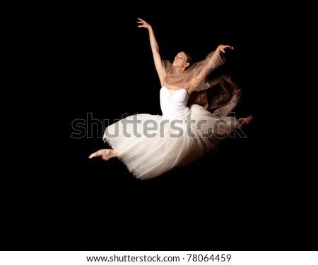 ballerina fly - stock photo