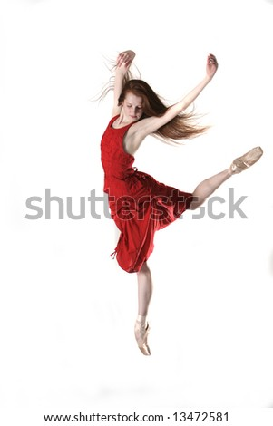 Ballerina in Red Dress