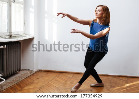 Ballerina working on the perfect move