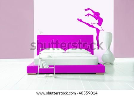 ballet bedroom - stock photo