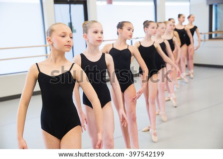 Ballet Dance Class - stock photo