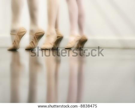 Ballet Dancer Feet - Dreamy version (orton imaging technique) - stock photo