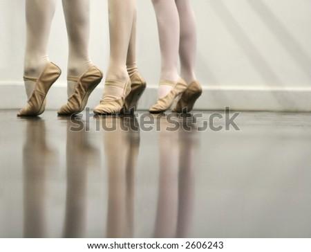 Ballet Dancer Feet - Soft and elegant - stock photo