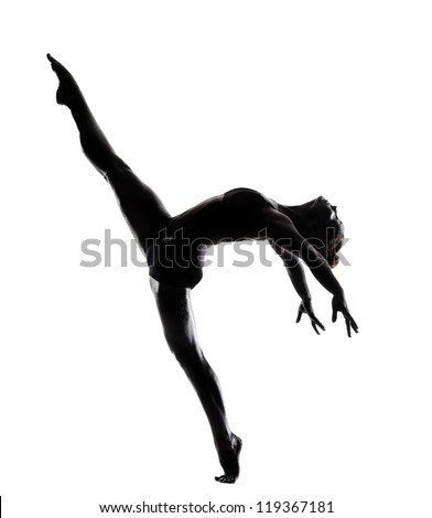 ballet dancer in black body paint series isolated on white background expressive artistic dance concept - stock photo