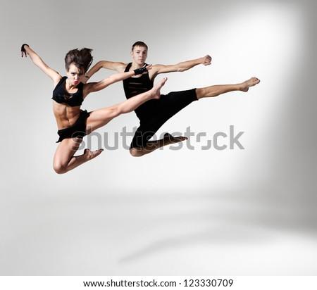 ballet dancer in rehearsal - stock photo