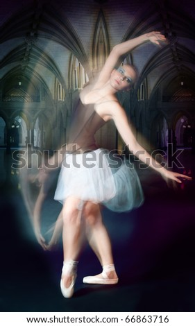 ballet dancer shoot in motion shoot made by both impulse and continues lights